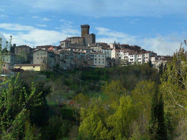 Il panorama del borgo di Arcidosso