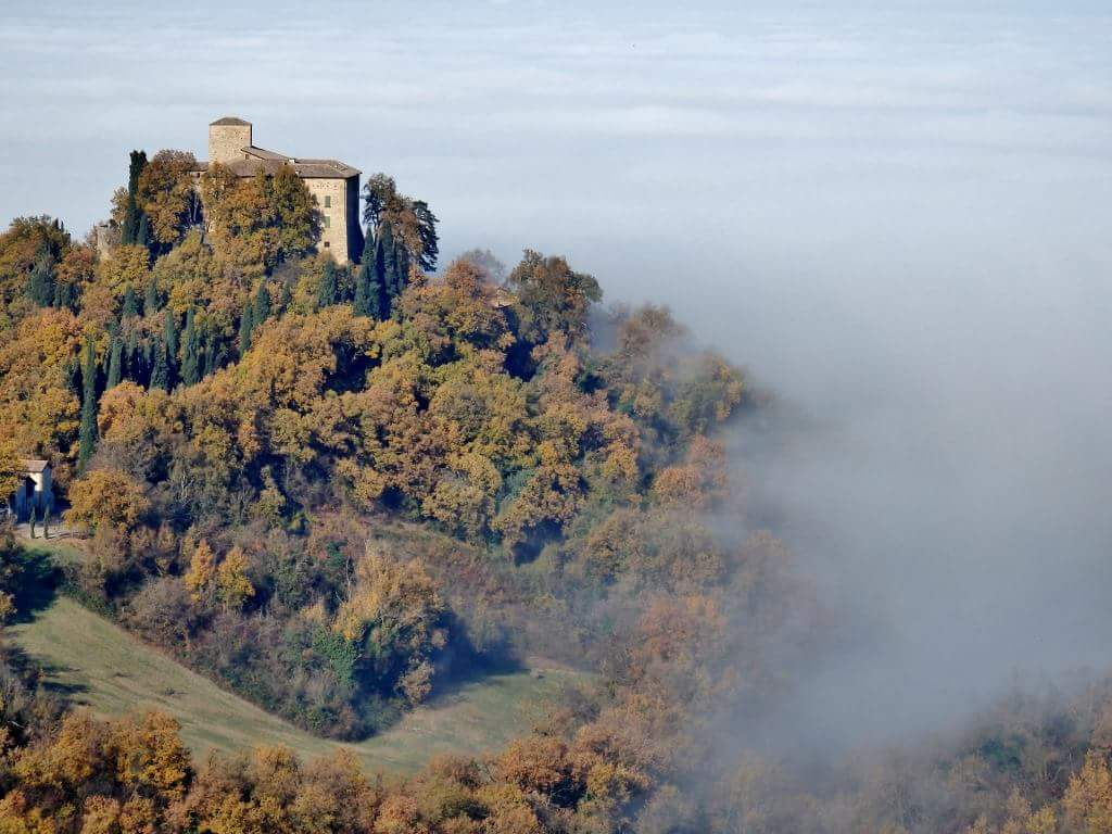 Il paesaggio con la nebbia di Quattro Castella