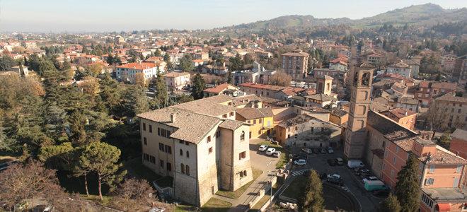 Il panorama del borgo di San Polo d'Enza