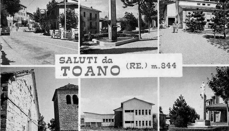 Una cartolina storica di Toano
