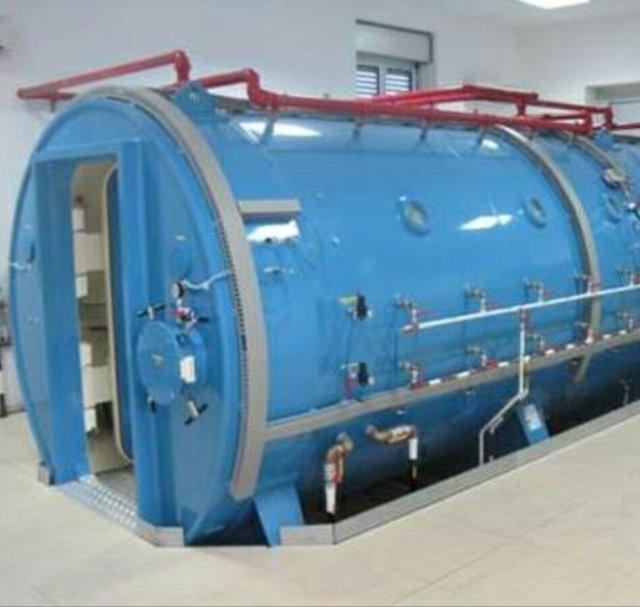 Camera iperbarica per curare gli intossicati da monossido di carbonio
