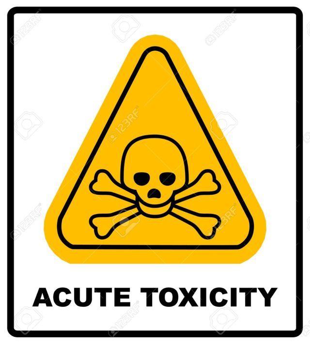 Il simbolo di pericolo dei prodotti tossici
